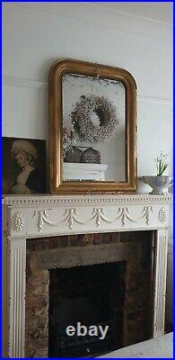 French 19th Century Louis Foxed Gilt Mirror