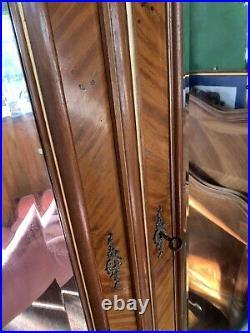 French 2 Mirror Doored Armoire Wardrobe