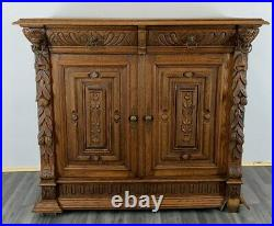 French Antique Cabinet / Sideboard / Chest of Drawers