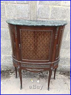 French Antique Inlaid Display/shop Cupboard, Unusual, Vintage, Louis XV