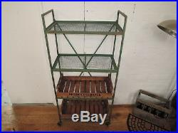 French Antique Look Rustic Metal Stand With Removable Wooden Storage Boxs