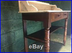 French Antique Marble Top Washstand
