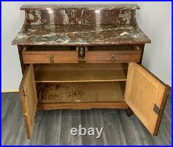 French Antique Marble Topped Chest of Drawers / Sideboard