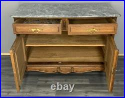 French Antique Marble Topped Chest of Drawers / Sideboard/ Wash Stand