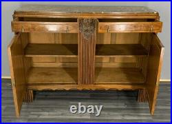 French Antique Marble Topped Chest of Drawers / Sideboard / Washstand