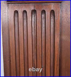 French Antique Panel/Door with Greek Ionic Columns in Walnut Wood Salvage 1
