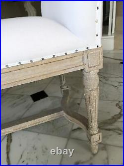 French Antique Style Upholstered Bench Immaculate