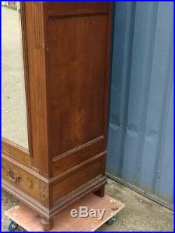 French Antique Wardrobe Armoire Double Mirror