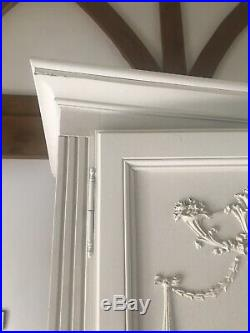 French Antique Wardrobe White 5 Doors
