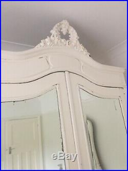 French Armoire Cupboard Painted Original Farrow & Ball Antique White
