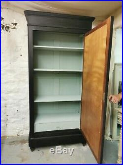 French Armoire Linen Cupboard Painted Original