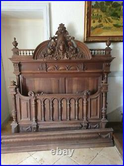 French Bed, Henri Double Size Bed & Nightstand