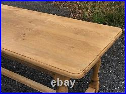French Bleached Oak Refectory Farmhouse Dining Table C1900 Kitchen