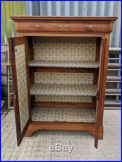 French C19th PARISIEN Mini Armoire, Wardrobe Tallboy Linen Press, Hall Cupboard