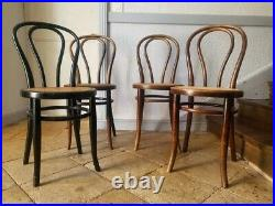 French Chairs, 6 Cane Bistro Chairs, Thonet Dining Chairs
