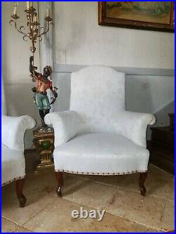 French Chairs, Pair of Napoleon III Armchairs
