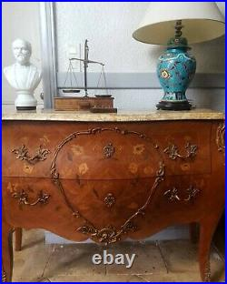 French Chest of Drawers, Bombe Rococo Tomb Style Cabinet