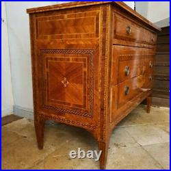 French Chest of Drawers, Italian Neoclassical Maggiolini Style Chest of Drawers