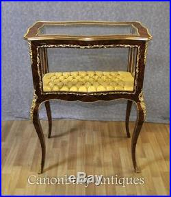 French Empire Display Cabinet Jewellery Case Bijouterie