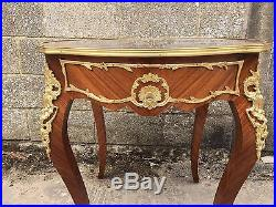 French Inlaid And Bronze Plant Stand/Table, Vintage, Antique