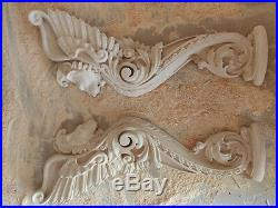 French Lion Griffin Door Stairs Wall Carved Beech Wood Victorian furniture decor