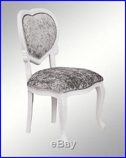 French Louis Chair White Shabby Chic Wooden Frame Chair Bedroom MEDEE