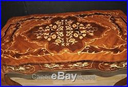 French Louis XVI Desk Bureau Plat Writing Table Marquetry Inlay