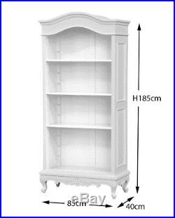 French Louis XV Mahogany 3 Shelf bookcase painted in White
