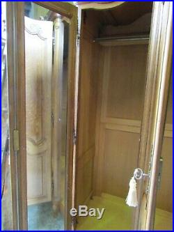 French Louis XV carved oak 4 door top quality armoire, wardrobe, flat pack, shelves
