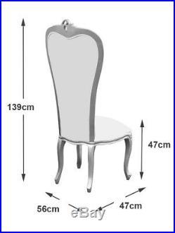French Louis Xv Wedding / Dining Chair, Gold Frame, Glamour Velvet Upholstery