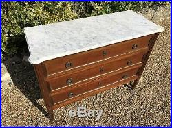 French Marble Top Chest Of Drawers, Bedroom, Circa 1900