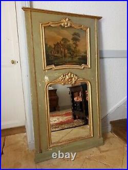 French Mirror, Antique Large Gilt Trumeau Mirror