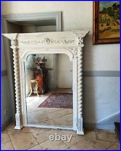 French Mirror, Extra Large Antique Henri II Mirror 19th Century