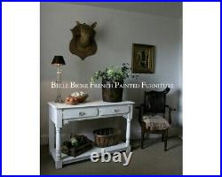 French Painted Two Tier Console Lovely Rustic Style Hall / Sofa / Console