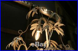 French Palm Tree Floor Lamp Light Mid century Vintage Antique Circa 1960
