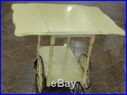 French Provincial Style Drop Leaf Tea Cart + Tray