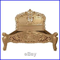 French Rococo Bed Antique Gold King Size 5ft In Stock