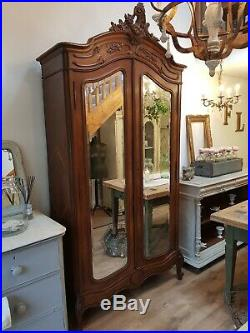 French Rococo Double Armoire Linen Cupboard