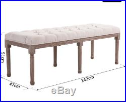 French Style Bench Antique Leg Furniture Bedroom Window Seat Shabby Chic Hallway