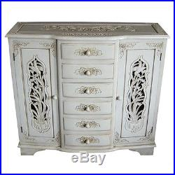 French Style Hand Carved Sideboard Antique Ivory Furniture