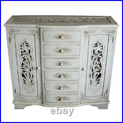 French Style Hand Carved Sideboard Antique Ivory Shabby Chic Furniture