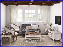 French Style TV Stand Shabby Chic Furniture Vintage Storage Unit Antique Cabinet