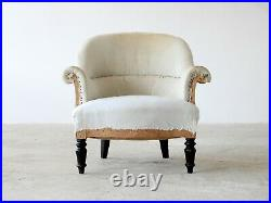 French Tub Chair, Early-to-Mid 20th Century, for Reupholstery