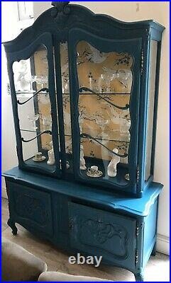 French Vitreen Louis XV Glass Display /Cabinet / Cupboard /Sideboard/storage