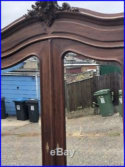 French Walnut Louis XV Rococco Armoire Double Door