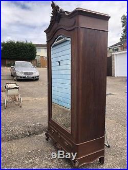 French Walnut Louis XV Rococco Armoire Single Door