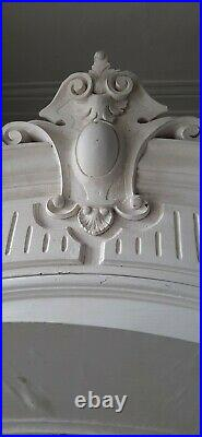 French White Single Door Full Mirrored Armoire Wardrobe antique