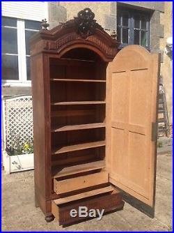 French antique vintage Henri ii style burr walnut wardrobe