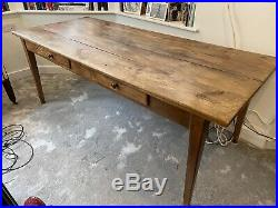 French farmhouse table, fruitwood, completely original, reserved