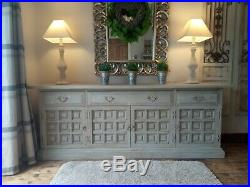 French, grey, rustic, distressed sideboard/ dresser
